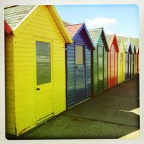 Beach Huts by stonefoxes