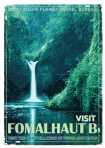 Exoplanet 04 Travel Poster Fomalhaut b by chungkong
