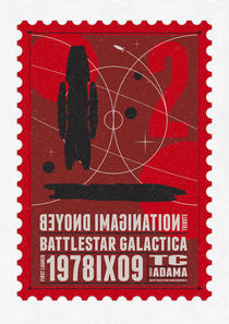 Starships 02-poststamp -Battlestar-Galactica by chungkong