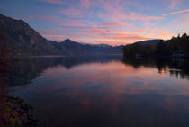 Sunset at Traunsee by dayle ann  clavin