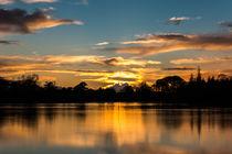 Bolam Lake sunset. UK von Mark Aynsley