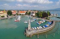 Hafen Lindau von oben - Bodensee Deutschland von Matthias Hauser