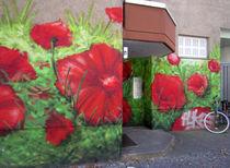 Urban corn poppy field - Urbanes Klatschmohnfeld von Ralf Rosendahl