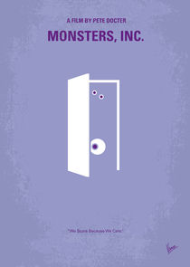 No161 My Monster Inc minimal movie poster von chungkong
