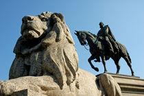 Kaiser Wilhelm mit Pferd und Löwe - Karlsplatz Stuttgart by Matthias Hauser