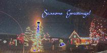 Seasons Greetings Blue Holiday by skyler
