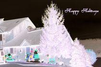 Purplish Glowing Holiday Tree by skyler