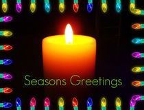 Seasons Greetings Holiday Candle by skyler