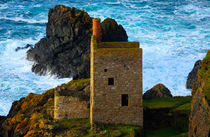 Engine houses at Botallack, Cornwall.  by Louise Heusinkveld