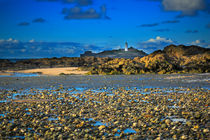 Godrevy Lighthouse from Gwithian Beach by Louise Heusinkveld