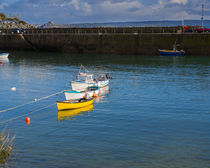 Fishing boats at Mousehole, Cornwall by Louise Heusinkveld