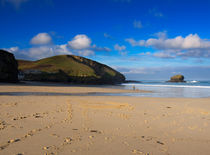 A Walk on the Beach in Portreath von Louise Heusinkveld