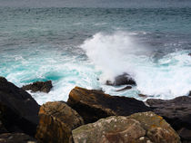Breakers and rocks, Cornwall  by Louise Heusinkveld