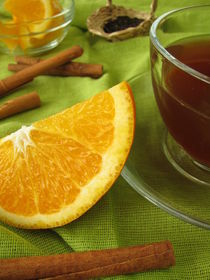 Schwarztee mit Orangen und Zimt von Heike Rau