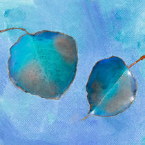 Leaf Study in Blue by Betty LaRue
