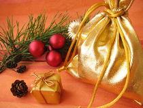 Weihnachtliches Geschenkesäckchen von Heike Rau