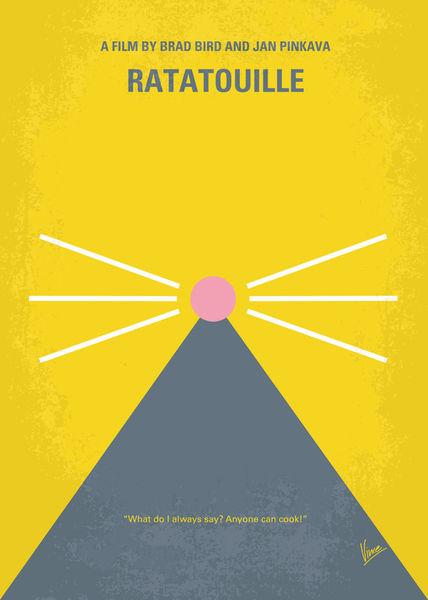 u0026quot;No163 My Ratatouille minimal movie posteru0026quot; Graphic ...