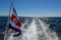 Flag at the back of a boat von Craig Lapsley