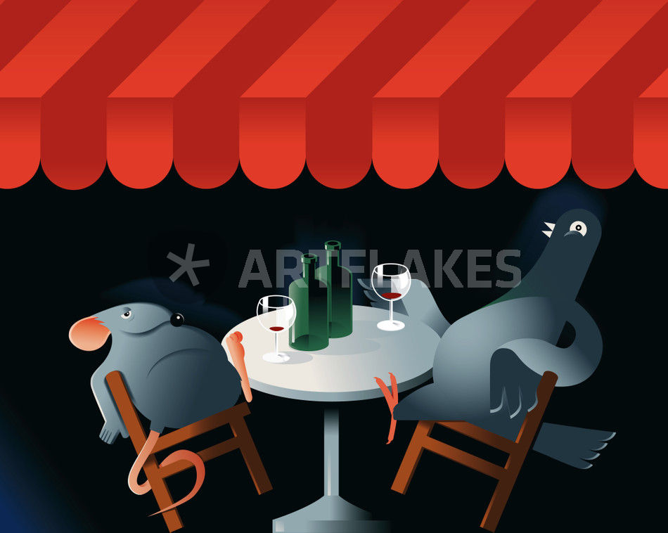 Dont Feed The Birds Graphicillustration Art Prints And