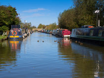 Narrowboats on the Oxord Canal von Louise Heusinkveld