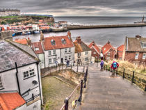 Whitby From The Steps by Allan Briggs