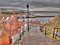 Whitby On a Cloudy Day von Allan Briggs