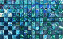 Collage blau-grün von Martin Uda
