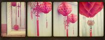 Chinese Lanterns Tetraptych von Sybille Sterk