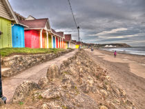 Scarborough Beach Huts by Allan Briggs
