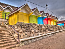 Scarborough Beach Huts von Allan Briggs