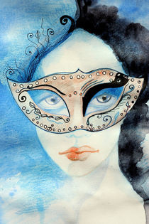 Girl with a mask by Helea-Andreea Pusta