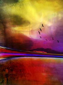 Landschaft mit Vögeln by pahit