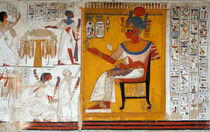 Rameses II in a Egyptian Wall Painting of Temple of Beit El-Wali by RicardMN Photography