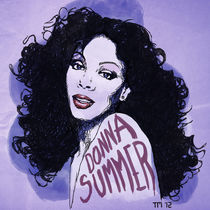 Donna Summer Portrait Sketch von monkeycrisisonmars