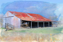 Old West Tin Barn by Betty LaRue