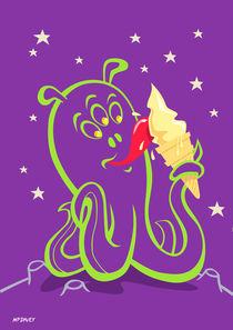 alien ice cream (vector version) von Martin  Davey