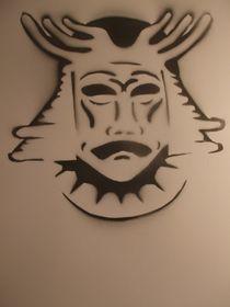 Samurai Stencil von Justin Latimer