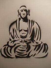 Buddha Stencil by Justin Latimer