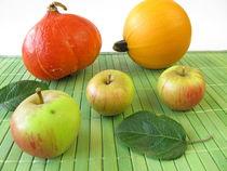 Äpfel und Kürbisse von Heike Rau