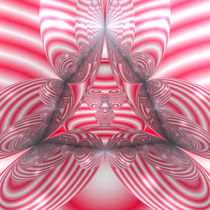 Striped Wada Fractal in Red von Frank Siegling