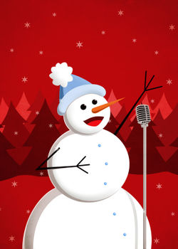 Happy-singing-snowman-christmas-poster