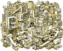City Machine - Gold by Nigel Sussman