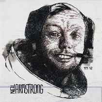 Gnorts Mr Neil! – Portrait of Astronaut Neil Armstrong by monkeycrisisonmars
