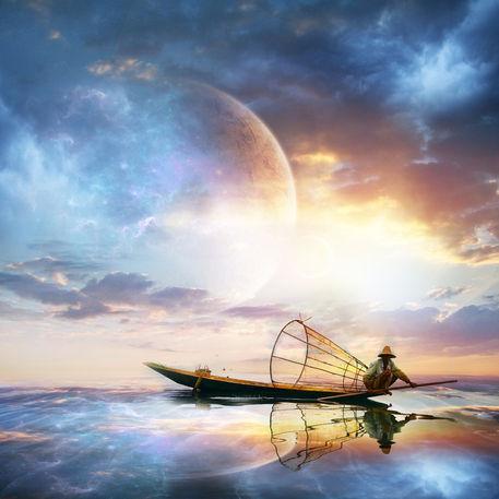 Planet-sunset