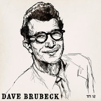 Portrait sketch of Dave Brubeck by Tom Mayer, San Diego CA von monkeycrisisonmars
