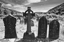Celtic cross in Glendalough, Ireland by kbhsphoto