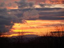 Taunus mit besonderem Wetterhimmel von Ka Wegner