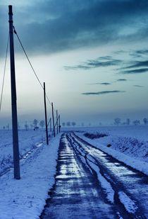 blue freezing road by emanuele molinari