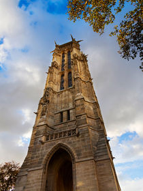 Tour St Jacques in Autumn, Paris by Louise Heusinkveld