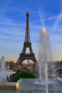 The Eiffel Tower from Trocadero, Paris von Louise Heusinkveld